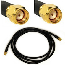 Antenna Cable: RP-SMA male To RP-SMA male Reverse Polarity: 6.25FT coaxial cable assembly