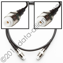 Antenna Cable: FME-female to FME-female: 18-inch coaxial assembly
