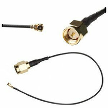 SMA-male (straight) To U.FL (female, right-angle) connector