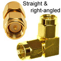 Choose between straight and right-angled versions of SMA-male to SMA-male adapter