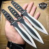 "3 Pc 8"" Ninja Tactical Combat Naruto Kunai Throwing Knife Set w/ Sheath Hunting"