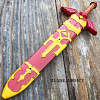 "11"" Legend of Zelda Hylian Hyrule Ocarina of Time Master Sword Short Dagger RED"