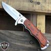 "7"" TAC FORCE WOOD Tactical Spring Assisted Open FOLDING BLADE Pocket Knife NEW"