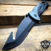 "10.5"" HUGE Military Tactical Spring Assisted Open Rescue Pocket Knife Gut Hook"