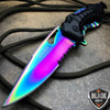 "8"" TAC FORCE RAINBOW SPRING ASSISTED TACTICAL FOLDING KNIFE Blade Open Pocket NEW"