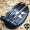 "2PC 12"" Hunting Wolverine Claw Blade Fantasy Knife Combat XMEN Cosplay w/ Sheath"