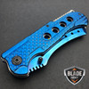 "9"" TACTICAL Razor Spring Assisted Open Folding Pocket Knife BLUE CLEAVER New"