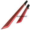 "27"" & 18"" NINJA RED SWORD SET Samurai Machete COMBAT FANTASY KNIFE Sheath NEW!"