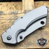 TACTICAL Spring Assisted Open Pocket Knife CLEAVER RAZOR TITANIUM GREY Blade