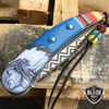 4 PCS Native American Indian Spring Assisted Open Folding Pocket Knife EDC SET