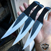 "3 PC 9"" Ninja Tactical Naruto Kunai FIXED BLADE Combat HUNTING Throwing Knife"