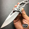 "7.75"" STEAMPUNK STYLE Pocket Folding Knife Survival Hunting EDC Razor Blade NEW"