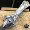 "8"" FANTASY FOLDING Dagger Dirk POCKET KNIFE Damascus Ninja Blade Diablo NEW"
