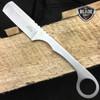 Straight Edge Razor Fixed Blade SILVER Cleaver TANTO Hunting Knife Karambit NEW