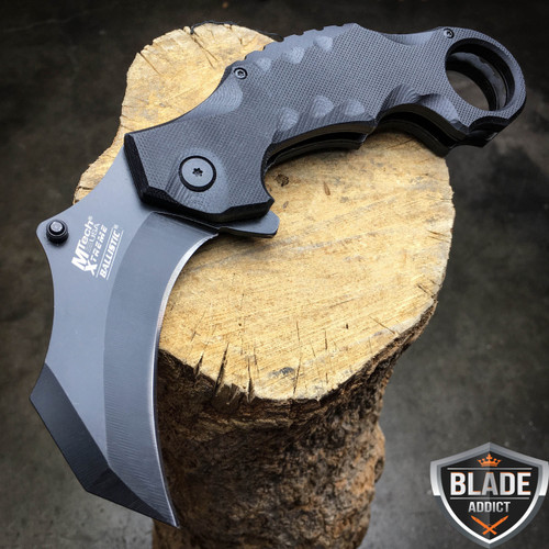 MTECH BLACK TACTICAL KARAMBIT CLAW SPRING ASSISTED POCKET KNIFE