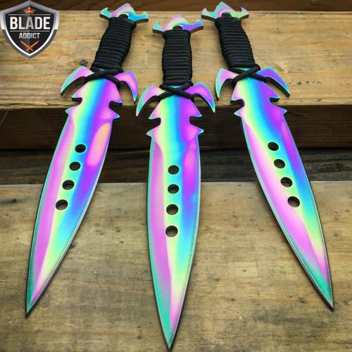 3pc 7 5 Quot Ninja Tactical Combat Kunai Throwing Knife Set W