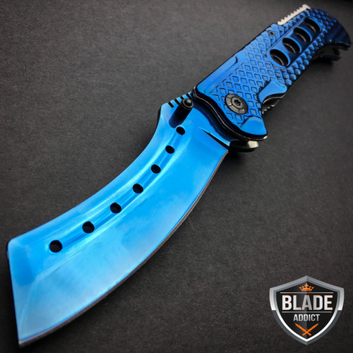 """Mtech Cleaver: 9"""" TACTICAL Razor Spring Assisted Open Folding Pocket"""
