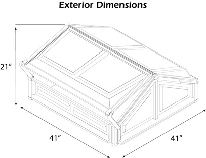 Double Cold Frame Dimensions