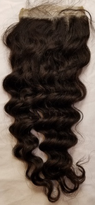 Malaysian Curly Free Part Closure
