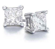 Create Your Own Princess Cut Diamond Stud Earrings