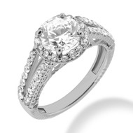 Chenworth 1.0 to 1.5CT Pre-Set Diamond Engagement Ring