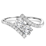Two Hearts 0.25CTW. Diamond Ring