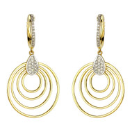 Madison L Concentric Circle Diamond Drop Earrings