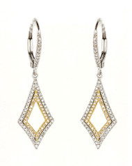 Madison L Queen of Hearts Diamond Drop Earrings