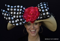 Polka Dot Pin-Up Derby Hat - FREE US EXPRESS