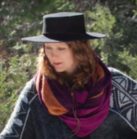 Stiff Brim Bolero Hat with Chin Cord