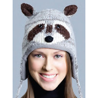 Raccoon Hat, Knit Original Delux Knitwits