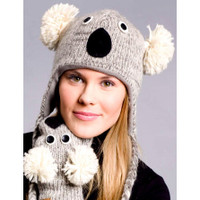 Knit Koala Bear Hat, Original Delux Knitwits