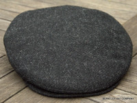 Irish Black Wool Flat Cap Ivy