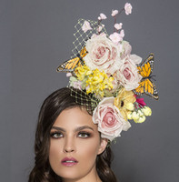 Flora, Butterflies and Flowers Fascinator by Arturo Rios