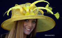 Cover Girl Kentucky Derby Hat in Yellow