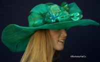 Winning Santa Anita Flowered Hat for the Derby in Green