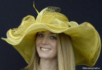 Belmont Derby Hat in Mustard Yellow