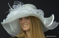 Belmont Derby Hat in White