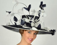 Navy Rodeo Drive Kentucky Derby Hat FREE US EXPRESS