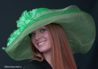 Green Derby Bridal Shower Hat