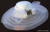 White Classy Sassy Derby Hat