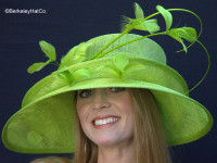 Show Stopper Derby Hat in Lime Green