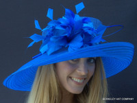 Belmont Dreams Kentucky Derby Hat in Blue