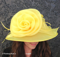 Easy Travelling Kentucky Derby Hat, Yellow