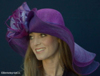 Purple Dynamic MultiColored Kentucky Derby Hat