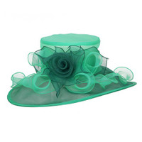 Lime Green Easy Going Packable Organza Kentucky Derby Hat