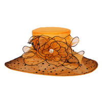 Orange with Black Winning Bet Hat for the Races