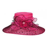 Fuchsia with Black Winning Bet Hat for the Races
