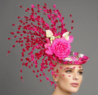 Monica, Pink Fascinator by Arturo Rios.