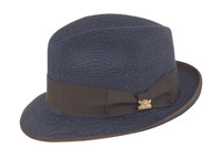 Navy Park Ave Hemp Fedora by Biltmore